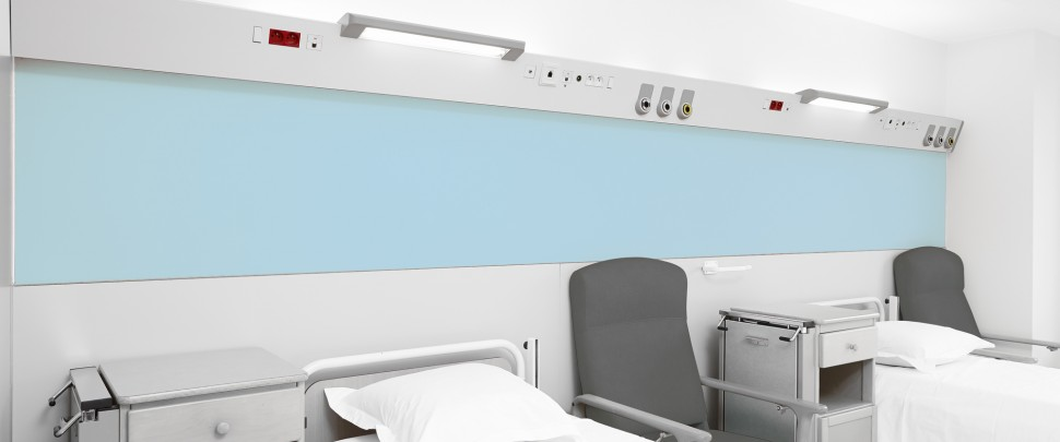 Eclairage de chambre d'hôpital - Bandeau tête de lit
