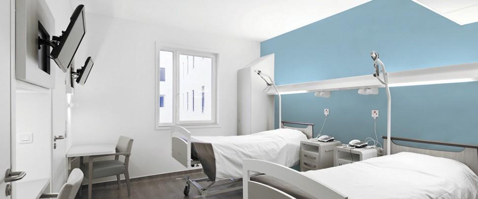 Eclairage de chambres d'hôpital