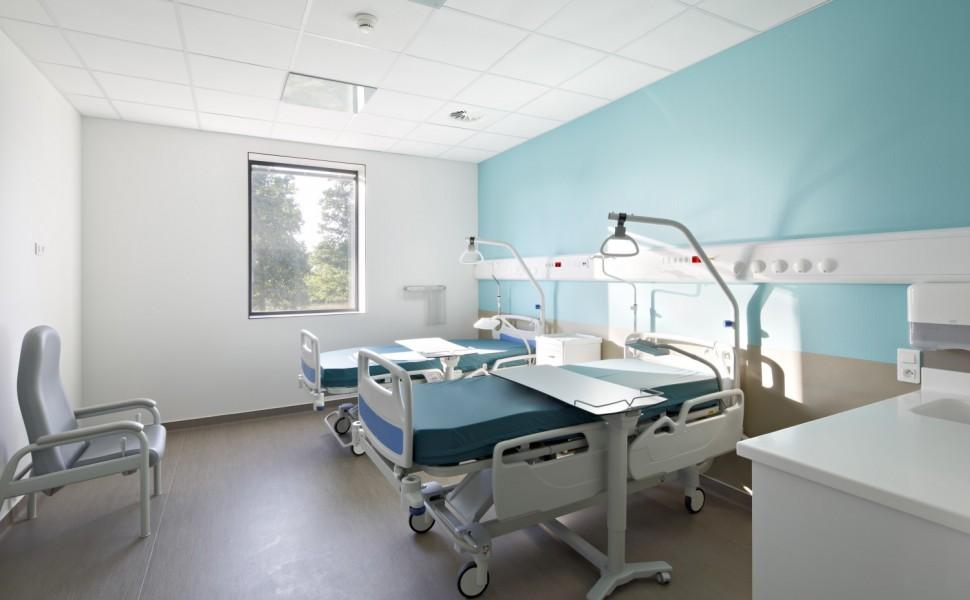 Bandeau tête de lit chambre d'hébergement hospitalier