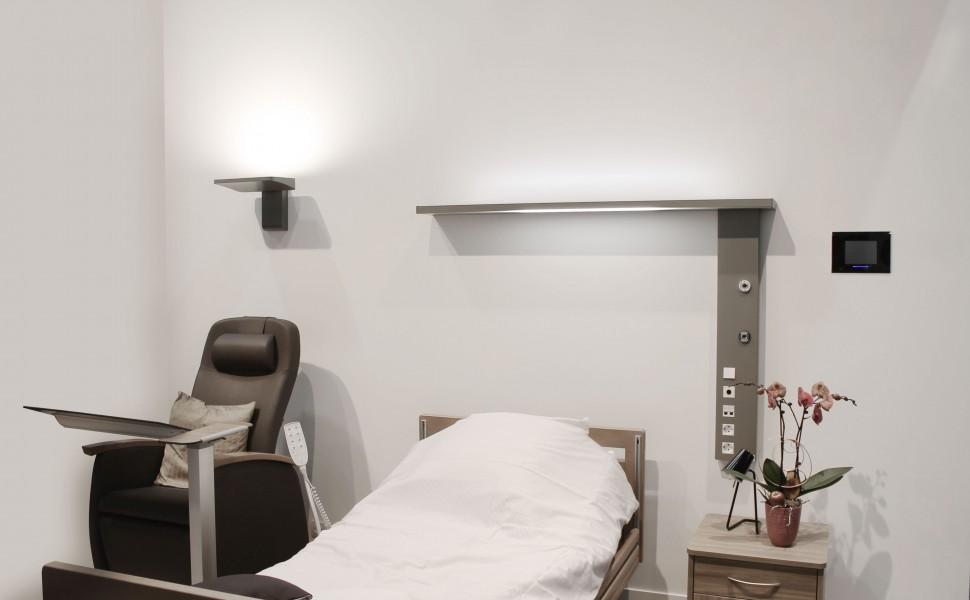 Gaine tête de lit maison de retraite hébergement hospitalier